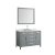 """49"""" Grey Oval Sink Product View"""
