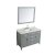 """49"""" Grey Rectangle Sink Product Angle View"""