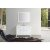 "Belmont Décor Hampton 49"" Single Rectangle Sink Vanity Set in White, Includes: Vanity Base, Countertop, Sink and Mirror"
