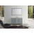"Belmont Décor Hampton 55"" Single Oval Sink Vanity Set in Grey, Includes: Vanity Base, Countertop, Sink and Mirror"