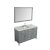 """55"""" Grey Oval Sink Product Angle View"""