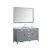 """61"""" Grey Oval Sink Product View"""