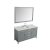 """61"""" Grey Oval Sink Product Angle View"""