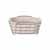 Blomus Delara Collection Wire Serving Basket, Small, Rose Dust, 8''W x 8''D x 3-5/8''H