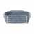 Blomus Delara Collection Wire Serving Basket, Large, Flint Stone, 10''W x 10''D x 3-5/8''H