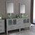 Cambridge Plumbing 63'' Vanity Set Gray, Glass Top, Polished Chrome Faucets