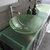 Cambridge Plumbing 63'' Gray, Sink View, Brushed Nickel Faucets