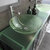 Cambridge Plumbing 63'' Gray, Sink View, Polished Chrome Faucets