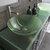 Cambridge Plumbing 71'' Gray, Sink View, Brushed Nickel Faucets