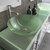 Cambridge Plumbing 71'' White, Sink View, Brushed Nickel Faucets