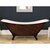 """Cambridge Plumbing 73"""" Acrylic Double Slipper Clawfoot Bathtub with no Faucet Holes, Faux Copper Bronze Exterior Finish and Oil Rubbed Bronze Feet"""