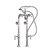 "Cambridge Plumbing Clawfoot Tub Freestanding British Telephone Faucet & Hand Held Shower, Brushed Nickel, 16""W x 3""D x 30""H"