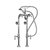 """Cambridge Plumbing Clawfoot Tub Freestanding British Telephone Faucet & Hand Held Shower, Polished Chrome, 16""""W x 3""""D x 30""""H"""