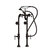 "Cambridge Plumbing Clawfoot Tub Freestanding British Telephone Faucet & Hand Held Shower, Oil Rubbed Bronze, 16""W x 3""D x 30""H"
