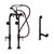 Cambridge Plumbing Complete Plumbing Package for Freestanding Bathtub without Faucet Holes, Oil Rubbed Bronze - Includes British Telephone Style Faucet w/ Hand Held Shower, Standing Supply Lines w/ Shut Off Valves and Drain Assembly