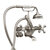 """Cambridge Plumbing Clawfoot Tub Wall Mount British Telephone Faucet with Hand Held Shower, Brushed Nickel, 13""""W x 12""""D x 9""""H"""