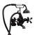 """Cambridge Plumbing Clawfoot Tub Wall Mount British Telephone Faucet with Hand Held Shower, Oil Rubbed Bronzel, 13""""W x 12""""D x 9""""H"""
