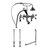 """Cambridge Plumbing Complete Plumbing Package for Deck Mount Bathtub, Polished Chrome - Includes Classic Telephone Style Faucet and Hand Held Shower with 2"""" Deck Risers, Supply Lines w/ Shut Off valves and Drain Assembly"""