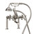 """Cambridge Plumbing Clawfoot Tub Deck Mount British Telephone Faucet with Hand Held Shower and 6"""" Risers, Brushed Nickel, 13""""W x 12""""D x 9""""H"""
