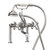 """Cambridge Plumbing Clawfoot Tub Deck Mount British Telephone Faucet with Hand Held Shower and 6"""" Risers, Polished Chrome, 13""""W x 12""""D x 9""""H"""