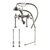 """Cambridge Plumbing Complete Plumbing Package for Deck Mount Bathtub, Brushed Nickel - Includes Classic Telephone Style Faucet and Hand Held Shower with 6"""" Deck Risers, Supply Lines w/ Shut Off valves and Drain Assembly"""