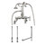 Cambridge Plumbing Complete Plumbing Package for Deck Mount Bathtub, Polished Chrome - Includes English Telephone Gooseneck Faucet w/ Hand Held Shower, Supply Lines w/ Shut Off Valves, Drain and Overflow Assembly