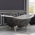 "Cambridge Plumbing 72"" Cast Iron Double Ended Clawfoot Slipper Bathtub with 7"" Deck Mount Faucet Drillings, Scorched Platinum Exterior Finish and Brushed Nickel Feet"