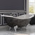 "Cambridge Plumbing 72"" Cast Iron Double Ended Clawfoot Slipper Bathtub with 7"" Deck Mount Faucet Drillings, Scorched Platinum Exterior Finish and Polished Chrome Feet"