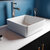 Cambridge Plumbing Square Bathroom Vessel Sink White