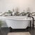 """Cambridge Plumbing 62"""" White Cast Iron Slipper Clawfoot Bathtub without Faucet Holes and Complete Oil Rubbed Bronze Plumbing Package, Freestanding English Telephone Gooseneck Faucet with Hand Held Shower"""