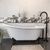 """Cambridge Plumbing 67"""" White Cast-Iron Slipper Clawfoot Bathtub without Faucet Holes and Complete Oil Rubbed Bronze Plumbing Package, Modern Freestanding Gooseneck Faucet with Shower Wand"""