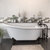 """Cambridge Plumbing 67"""" White Cast-Iron Slipper Clawfoot Bathtub without Faucet Holes and Complete Oil Rubbed Bronze Plumbing Package, Freestanding British Telephone Faucet with Hand Held Shower"""