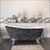 Cambridge Plumbing 67'' Tub w/ Scorched Platinum Exterior & Brushed Nickel Feet