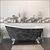 Cambridge Plumbing 67'' Tub w/ Scorched Platinum Exterior & Polished Chrome Feet