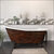 Cambridge Plumbing 67'' Tub w/ Faux Copper Bronze Exterior & Oil Rubbed Bronze Feet