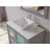 "Cambridge Plumbing 36"" Solid Wood Single Vanity Set in Gray, Pristine White Porcelain Countertop with White Porcelain Vessel Sink, Polished Chrome Faucet and Wood Trimmed Mirror Included"