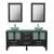 """Cambridge Plumbing 63"""" Solid Wood Double Vanity Set in Espresso, Tempered Glass Countertop with (2) Glass Bowl Vessel Sinks, (2) Brushed Nickel Faucets and (2) Wood Trimmed Mirrors Included"""