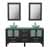 """Cambridge Plumbing 63"""" Solid Wood Double Vanity Set in Espresso, Tempered Glass Countertop with (2) Glass Bowl Vessel Sinks, (2) Polished Chrome Faucets and (2) Wood Trimmed Mirrors Included"""