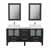 """Cambridge Plumbing 63"""" Solid Wood Double Vanity Set in Espresso, White Porcelain Countertop with (2) White Porcelain Rectangle Vessel Sinks, (2) Polished Chrome Faucets and (2) Wood Trimmed Mirrors Included"""