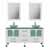 "Cambridge Plumbing 63"" Solid Wood Double Vanity Set in White, Frosted Glass Countertop with (2) Glass Bowl Vessel Sinks, (2) Polished Chrome Faucets and (2) Wood Trimmed Mirrors Included"