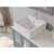 """Cambridge Plumbing 63"""" Solid Wood Double Vanity Set in Gray, White Porcelain Countertop with (2) White Porcelain Vessel Sinks, (2) Polished Chrome Faucets and (2) Wood Trimmed Mirrors Included"""