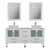 "Cambridge Plumbing 63"" Solid Wood Double Vanity Set in White, White Porcelain Countertop with (2) White Porcelain Trim Design Vessel Sinks, (2) Polished Chrome Faucets and (2) Wood Trimmed Mirrors Included"
