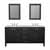 """Cambridge Plumbing 72"""" Solid Wood Double Vanity Set in Espresso, White Porcelain Countertop with (2) Basin Sinks and (2) Wood Trimmed Mirrors Included"""