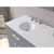 """Cambridge Plumbing 72"""" Solid Wood Double Vanity Set in Gray, White Porcelain Countertop with (2) Basin Sinks and (2) Wood Trimmed Mirrors Included"""