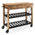 Roots Rack Industrial Kitchen Cart Made of Solid Pine With Steel Shelves By Crosley Furniture