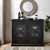 Crosley Furniture Jackson Collection Accent Cabinet in Black, 42-3/25''W x 15-3/4''D x 32-3/4''H