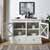 Crosley Furniture Jackson Collection Accent Cabinet in White, 42-3/25''W x 15-3/4''D x 32-3/4''H