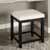 Crosley Furniture Vista Vanity Stool, Black With White Vinyl Finish, 15-3/4''W x 17-1/2''D x 19-1/4''H