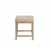 Crosley Furniture Vista Vanity Stool, Distressed Gold With Cr�me Linen Seat Finish, 15-3/4''W x 17-1/2''D x 19-1/4''H