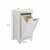 Crosley Furniture Tara Linen Hamper, Vintage White Finish, 18''W x 15''D x 35-1/4''H